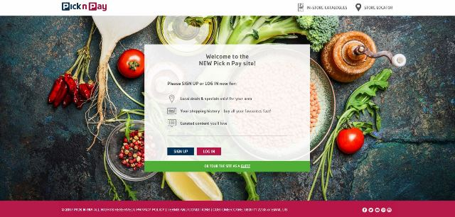 New Pick n Pay online shopping website - 2017-10-04